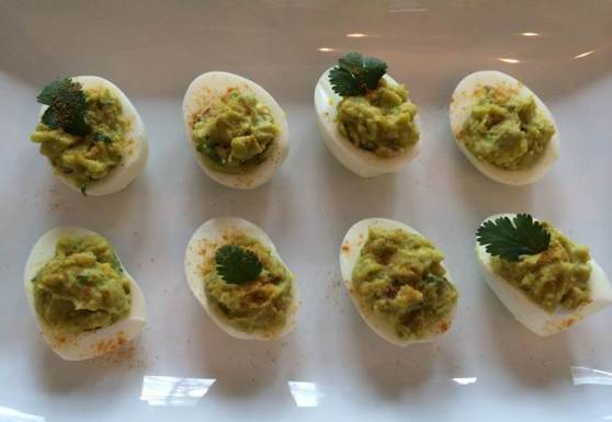 Mexican style deviled eggs