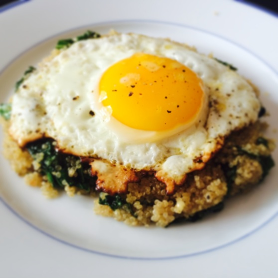 Kale, Quinoa, Egg breakfast