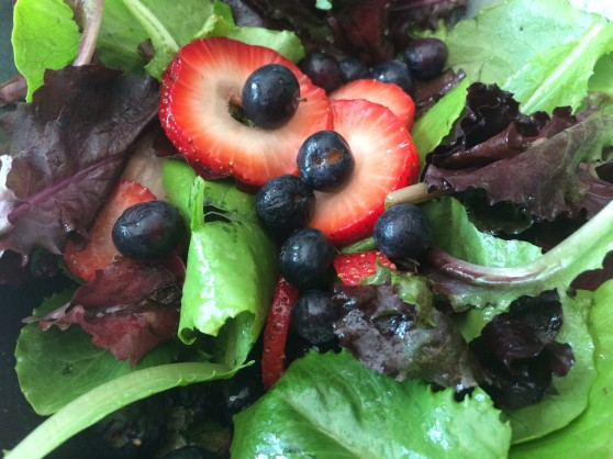 Patriotic summer salad
