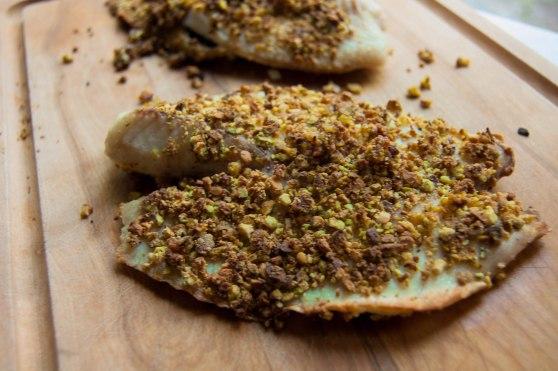 Vanilla Pistachio Crusted Tilapia